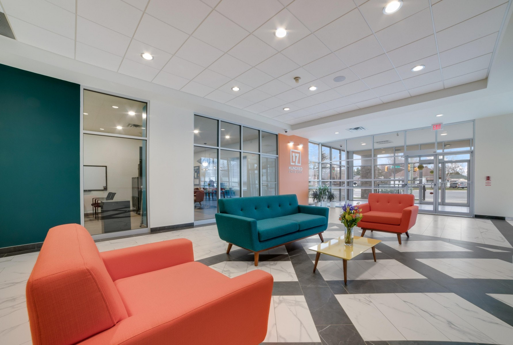 Lobby with couches