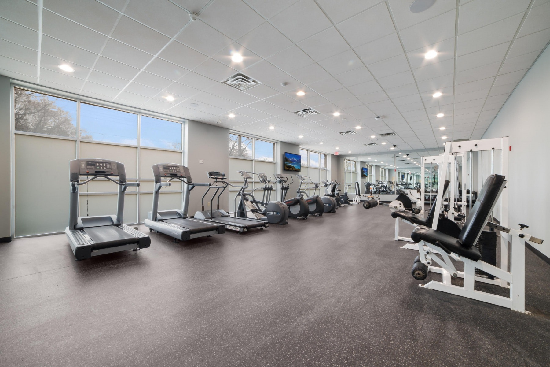 Fitness Centre with treadmills and weights
