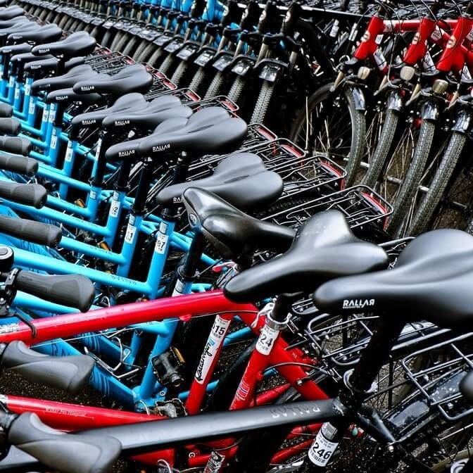 multiple bicycles next to each other